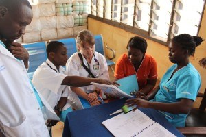 SickKids staff providing education in Africa.
