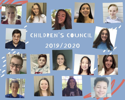 Some of the 2019/2020 Children's Council members.