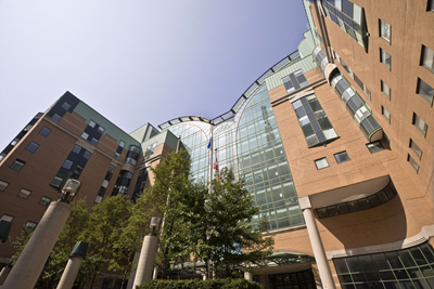 Exterior of SickKids hospital