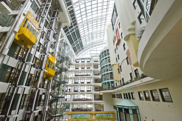 SickKids hospital atrium interior